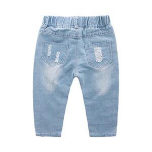 Croal Cherie Mode Kinder zerrissen Mädchen Jeans Hosen für Jugendliche Jungen Kleinkind Jeans Kinder Kleidung Y200409