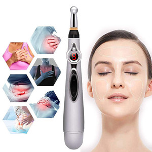 Electronic Acupuncture Pen Electric Meridians Laser Therapy Heal Massage Pen Meridian Energy Pen Relief Pain Tools GGE2208