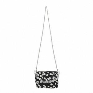 Fashion Daisy Printed Shoulder Bag 2020 Summer New Womens Chain Crossbody Bag Bolsa Feminina Mini Handbag 4ACZ#