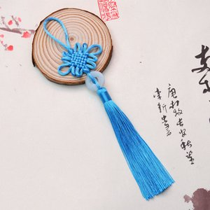 8 colores de la suerte chinas nudos Bastante Jade decoración DIY de la trenza de la artesanía colgantes de accesorios de moda del interior FWF2297