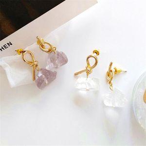 The new lady knot eardrop female delicate personality stud earrings earrings Wearing a simple South Korea fashion jewel