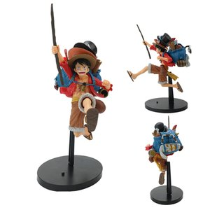 22 cm Anime One Piece Şekil Koşu Modelleme Luffy Sabo Ace PVC Action Figure One Piece Anime Figure Tahsil Model Bebek Oyuncakları Y1221