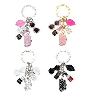 Fashion Exquisite Keychain Glasses Wallet Lipstick Lips Accessories Creative Small Gifts Ladies Women Bags Key Chain Kimter-C382FZ