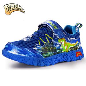 Dinoskulls transpirable Marca zapatos de los niños del tamaño de malla deporte de los muchachos niños 3D dinosaurios zapatillas de deporte 27-34