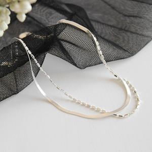 Anklets Q100% 925 Foot Sterling for Women Silver 2020 Double Jewelry Bracelet Leg Chain Gift Enkelbandjew