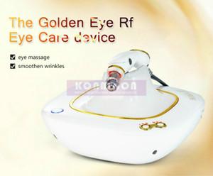2018 Chegada Nova Olhos dourados eliminar rugas beleza por olho carinho e arca Círculos rugas remoção RF Eye Massager Máquina