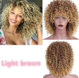 Popular Wig with Black Curly Hair and Short Chemical Fiber Headgear Wigs for Black Women Synthetic Cosplay Afro Kinky Curly Wig