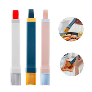 Silicone Oil Brush Household Kitchen Pancake BBQ Brush Detachable High Temperature Resistant Hanging Barbecue Jam Brush HWF4381
