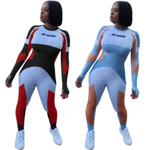 Womens jumpsuits rompers playsuit sexy long sleeve bodysuit one piece pant new hot selling female clothing fashion print jumpsuits klw6039