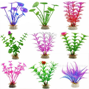 Artificial Underwater Plants Aquarium Plastic Simulated Water Grass Fish Tank Green Purple Red Water Grass Viewing Decorations D 45 G2