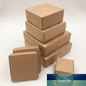 24pcs lot 7 sizes Small Kraft cardboard packing gift box handmade soap candy For Wedding Decorations Event Party Supplies