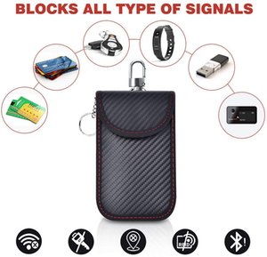 2020 New Rfid Bluetooth Wifi Credit Cards Signal Blocking Storage Bag for Car Remote Key Anti-Hacking Pouch Pocket with Hook