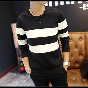 Stripe Splice Hoodies Sweatshirt Men Stranger Things One Piece Man Hoodies Hip Hop Sweatshirt Men Clothes Tracksuit New