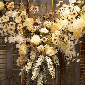 Белые Свадебные симуляторы Цветок Декоративные Цветы Сцена Сцена Сцена ЛОЖНЫЕ Украшения Арки Потолочный Дорожный ряд Венки Стена