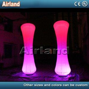colore che cambia la decorazione di illuminazione a LED pilastro gonfiabile colonna gonfiabile con il ventilatore di base per gli eventi outdoor party