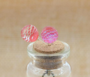 Brincos para mulheres atacado colorido encanto Rodada Brinco projeto Fine Jewelry For Women Crystal Ball brincos