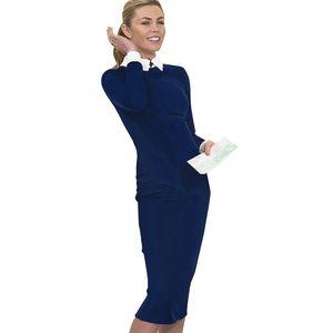 Güzel-sonsuza Kariyer Kadınlar Sonbahar Turn-down Yaka Fit Çalışma Elbise Vintage Zarif Iş Ofis Kalem Bodycon Midi Elbise 751 C0122