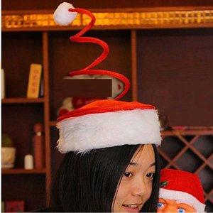 Новогодняя Рождественская Спиральная Весна Шляпа Личность Весенняя Крышка Рождественские Теплая Шляпы Детские Рождественские Партия Подарочные материалы1