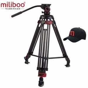 miliboo MTT604A алюминиевой головкой Портативный штатив камеры для профессиональной видеокамеры / видео / DSLR Stand 75мм Чаша Размер видео штатив