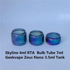 Geekvape zeus nano 3.5ml skyline skyline 4ml RTA RTA Rassemblance arc-en-ciel tube de verre bubble Fatboy étendu 7ml