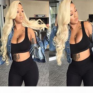 Wholesale Brazilian Virgin Human Hair Full Lace Wigs For Black Women Glue Less 613# Blonde Body Wave Human Hair Lace Front Wigs