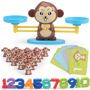 Math Match Game Board Toys Toykey Cat Match Balancing مقياس رقم الرصيد لعبة أطفال لعبة تعليمية لتعلم إضافة وطرح LJ200922