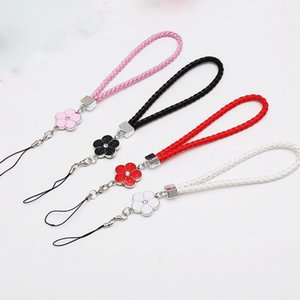 Phone hanging rope Creative woven lanyard hanging bracelet high-quality flower bracelet camellia plum short rope
