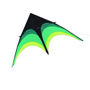 Outdoor entertainment sports new arrival 1.6m green triangle kite, tail 10m   Socks   handle and good route
