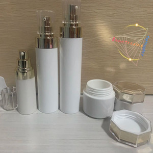 Acrylic vacuum lotion face cream bottle high-end skin care packaging product set bottle sub-bottling water emulsion essence isolation bottle