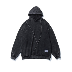 Autumn and Winter Fashion Mens Oversized Vintage Hoodies Streetwear Hiphp Pullover Loose sweater