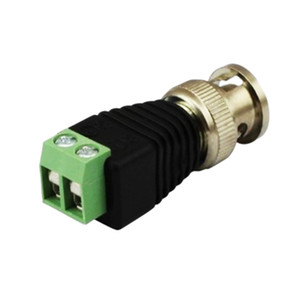 Hot Sale Cable Cat5 To Coaxial Bnc Cable Connector Adapter Camera Cctv Video Balance Factory Direct Sales