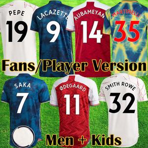 2020 2021 Red Odegaard Футбол Джерси Томас Человеческая Гонка 20 21 Вентиляторы Версия игрока Продают Рубашка Топы Наборы CamiSeta de Futbol Maillot Оборудование
