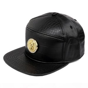 High Quality PU Leather Crocodile Pattern Jesus Tide Hip Hop HIPHOP Hat Flat Neck Cap Men And Women Baseball Spot