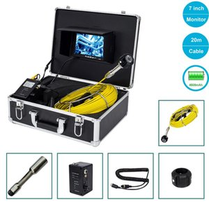 20M Pipe Sewer Waterproof Camera 120 Degree Drain Pipe Inspection Video Camera System 4500MAh Battery 7inch Screen