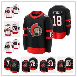 Ottawa Senators 2021 18 Tim Stuetzle Jersey 30 Matt Murray Brady Tkachuk Thomas Chabot Bobby Ryan Anderson Zaitsev Hainsey Hockey-Trikots