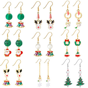 Merry Christmas 2020 Earring Pendant Christmas Gift s Ornaments Christmas Decor for Home New Year Gift 2021 Navidad Natal
