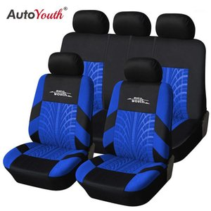 AUTOYOUTH 3 Colour Track Detail Style Car Seat Covers Set Polyester Fabric Universal Fits Most Cars Covers Car Seat Protector1