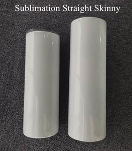 Çelik Hasır Paslanmaz Çelik ile 20 oz Süblimasyon Düz tumbler Kahve Kupa Çift Duvar İzoleli Su Şişesi mandal Boş Bardak A02