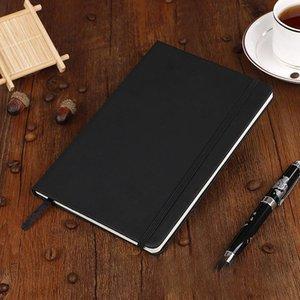 Hardcover Notebook A5 Collège a remporté épaisse Cachet d'écriture classique Cuir PU avec fermeture élastique de poche 14 * 21 / GWD4114