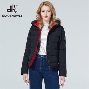 Diaosnowly новой зимней куртка короткого пальто женщина зимняя мода куртка и парк для женщин теплого коротких пиджаков пальто 201015