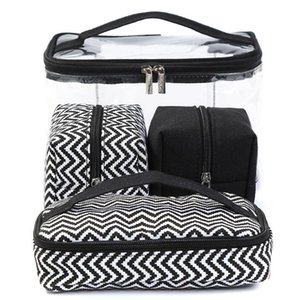 Mix Color Multi-Function Cosmetic Bag Прозрачный PVC Портативный Комбинированный Четырешний Костюм Сумки для стирки Путешествия