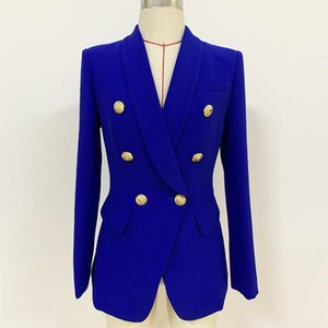 Sondr 2020 Diseñador Blazer Coat Women Double Breasted Metal Buttons Blazer Chaqueta Casual Mujeres Fashioin marea de gran tamaño
