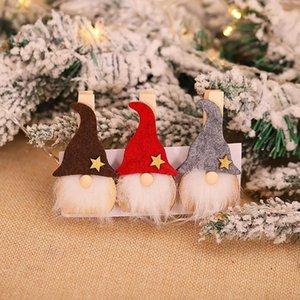 3pcs Creative Christmas Wooden Clip Deer Ornaments Diy Craft Xmas Tree Decorations Kids Gift Home Supplies Party Accessories bbyIUN