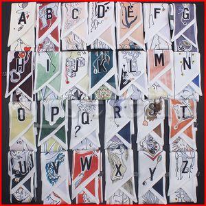 Multipurpose Dekoration Band BEAGT BAG SCHACK SCHLISTE SCHLIESSE FÜHRENBÄRKEIGE Headscarf Seidenschals Wrap Haarzubehör 26 Buchstaben Tarotdruck
