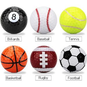 6pcs / torba Golf topları İki kat Golf Pratik topları Golf hediye topları