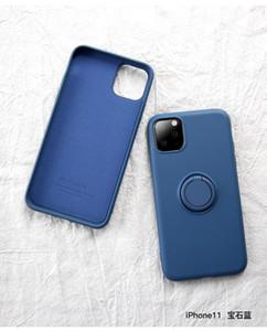 2020 newst cassa del telefono del silicone liquido per l'iphone 11 Pro Max XS XR X 8 7 Caso Inoltre con l'anello di barretta fibbia Armatura copertina antiurto