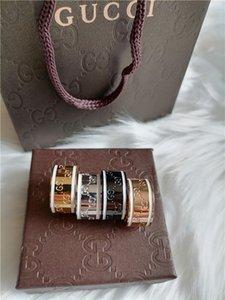 클래식 럭셔리 고품질 브랜드의 고급 반지 디자이너 링 스탬프 반지 여성과 남성 쥬얼리 웨딩 2020 새로운 선물