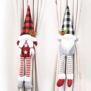15 Art-Weihnachts Vorhang-Wölbung Tieback Sankt-Schneemann-Hindernis Fastener Buckle Clamp Dekoration Weihnachtsschmuck OWA1919