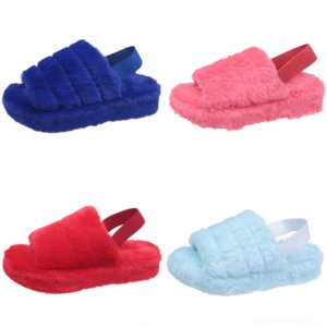 CTP McCkle Femmes Sonic Peluche New Slipper Kid Hiver Pantoufles Chaussures Accueil Dames Chaud Plush Casual Couple Couple Open Toe Shoe Confort