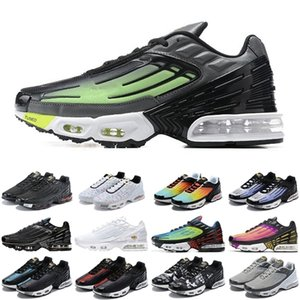 2020 Yeni TN Artı 3 Erkekler Kadın Spor Ayakkabı Üçlü Beyaz Siyah Yanardöner Paraşüt Paketi Örümcek Erkek Eğitmenler Spor Sneakers Koşucular